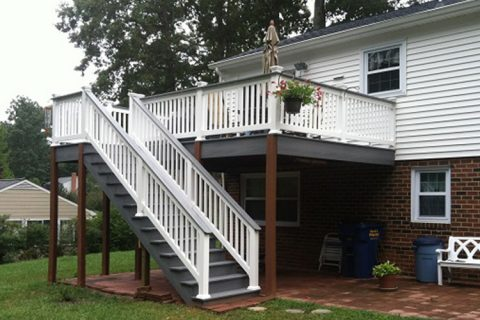 vinyl railings from lonestar siding and windows richmond va